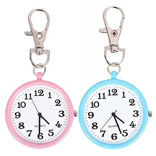 UKCOCO Reloj de Bolsillo para Enfermera- Reloj de Bolsillo Tipo Llavero Reloj de Bolsillo Portátil para Enfermería Creativo Reloj de Bolsillo Colgante Regalo Simple para Estudiantes de