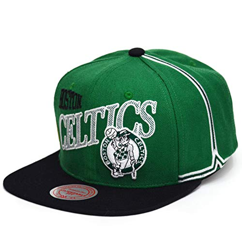 Mitchell & Ness Gorras Boston Celtics Side To Side Green Snapback