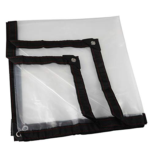 LQKYWNA Lona Transparente para Jardín Impermeable Anti Congelación Película Impermeable A Prueba De Lluvia Toldo De Aislamiento Cubierta De Plástico PE (1 * 2m)