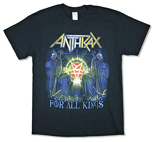 Anthrax All Kings Faces 2017 World Tour Black T Shirt New Band Merch