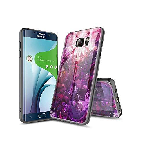 SviXXaYN Samsung Galaxy S6 Edge Funda, Parte Trasera de Cristal Templado + Funda Protectora de TPU de Silicona Suave, Compatible con Samsung Galaxy S6 Edge #003(B)
