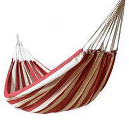 Cttiulidc Espesar Lienzo Hamaca Columpio al Aire Libre Individual Doble Personas Dormitorio Camping hamacas Rojo