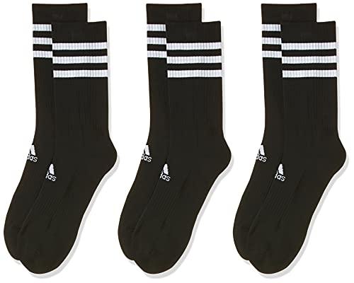 adidas 3S CSH CRW3P Calcetines, Unisex Adulto, Black/Black/Black, L
