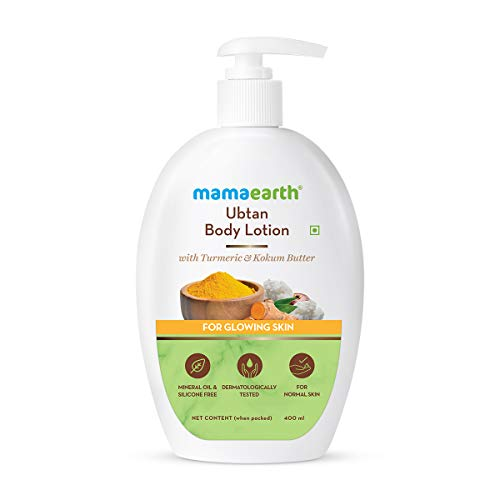 Mamaearth Ubtan Body Lotion with Turmeric & Kokum Butter for Glowing Skin for all skin type- 400 ml
