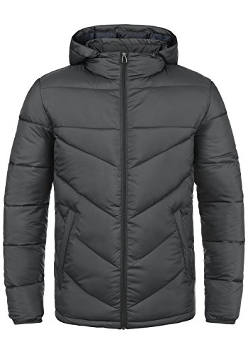 PRODUKT Pfiffikus Herren Steppjacke Übergangsjacke Jacke mit Kapuze, Größe:L, Farbe:Asphalt