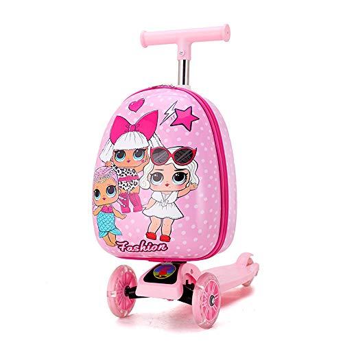 FGKING Kid Roller Koffer, Kindergepäckroller, Rollen-Gepäck Duffle Bag, Trolley Scooter für Kinder Travel Schule Geschenk-Spielzeug für Reisen,4