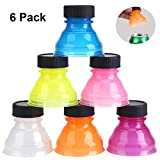 6Pack Can Lids Covers for Soda Suitable for Carbonated Drinks, Beer, Energy Drinks, Other Canned Beverages. Reusable Pop Can Lid for Picnic/Beach/Family Gathering/Party