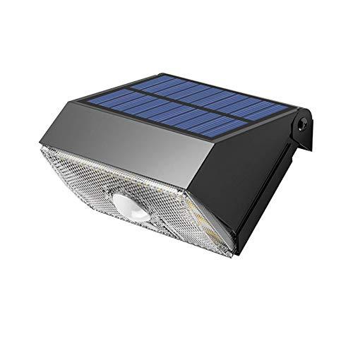 WORHAN® Solar LED 1000 Lumen Beleuchtung 100W Gartenbeleuchtung Garten & Terrasse Decken Zaunbeleuchtung Solarbetriebene Lampe Solarlampen Wandleuchten Solarleuchte für Außen LH10BS