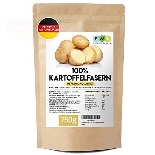 Kartoffelfasern Kartoffelmehl Kartoffelfasermehl I 750 Gramm Deutsche Premiumqualität aus deutschen Kartoffeln I Kartoffelfaser abgefüllt in Deutschland im wiederverschließbaren Beutel