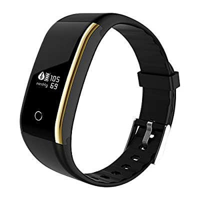 Xingddoz Fitness and Wellness Activity Tracker with Heart Rate Blood Pressure, IP67Waterproof Bluetooth Smart Bracelet Pedometer Wristband Wrist Band Armband Pulse Watch Tracker for iOS and Android mobile phones by Made in China
