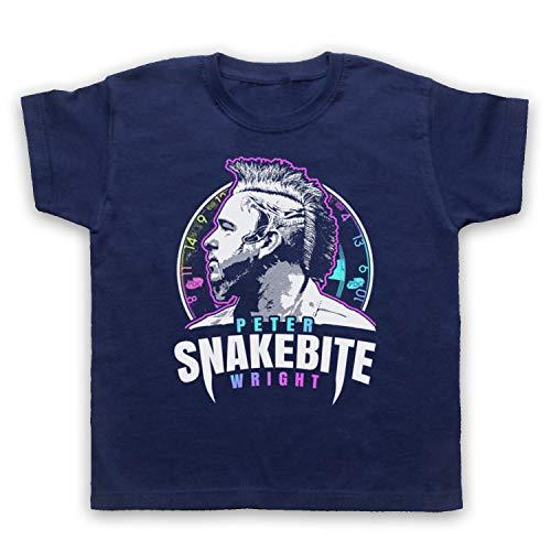 My Icon Art & Clothing Peter Wright Snakebite Darts Tribute Scottish Champion Player Kinder T-Shirt, Ultramarinblau, 12-13 Jahren