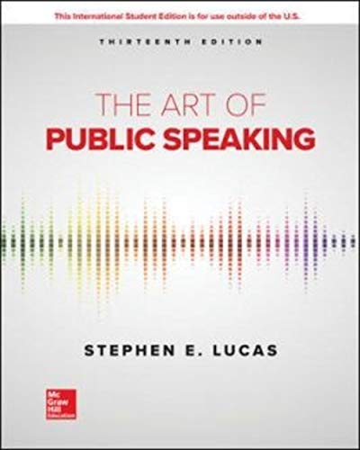 Compare Textbook Prices for The Art of Public Speaking 13 Edition ISBN 9781260548099 by Lucas, Stephen