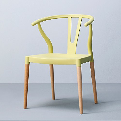 PLL Nordic Modern Minimalist Home Solid Wood Stoel Wit Rood Groen Geel Eettafel Hoorn Stoel
