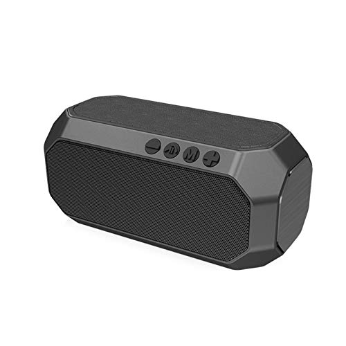 JUNPE Altavoz portátil Bluetooth Altavoz Bluetooth Potente Portátil Portátil Impermeable Bajo Al Aire Libre Subwoofer Altavoz HiFi Música Música Inalámbrica USB Altavoces (Color : Gray)