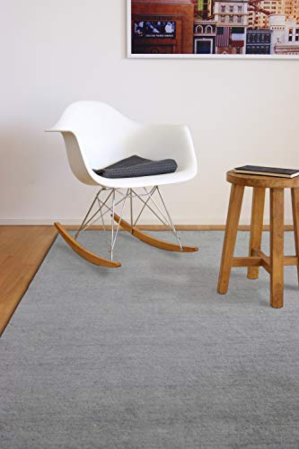 floor factory Gabbeh Teppich Karma grau 140x200 cm - handgefertigt aus 100{37e908bf2318333705ab4a9f27033012240e0dc566fc1b60eb686beec82e1125} Schurwolle