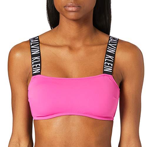 Calvin Klein Bandeau-RP Parte Superior de Bikini, Impresionante orquídea, S para Mujer