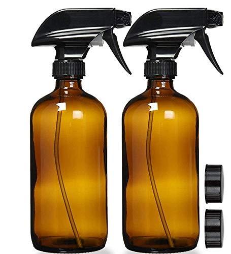 Nachfüllbar kosmetische Behälter 240ML nachfüllbaren Behälter for ätherische Öle Reinigungsprodukte oder Aroma Durable Schwarz Trigger-Sprayer Sprühflaschen Braunglas Sprühflaschen (Farbe : 2PCS)