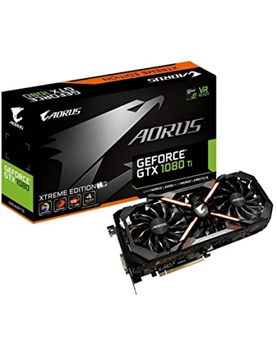 Gigabyte AORUS Xtreme Edition Scheda video GeForce GTX 1080 Ti, 11 GB, 7680 x 4320 pixels, 1784 MHz, 2-Way SLI, 1936 MHz