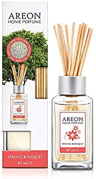 Areon Home Luxury Perfume Reed Diffuser 10 Rattan Reeds Spring Bouquet