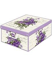 KANGURU Collection pachnące fioletowe ozdobne pudełko do przechowywania z uchwytami