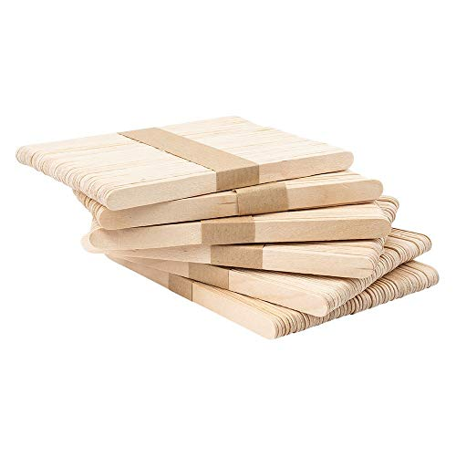Holzstäbchen | Holzspatel | Eisstiele aus Holz | Holzspachtel | 14 cm lang | 1 cm breit | ideal zum Basteln, Waxing, Eis selber machen | 300 Stück