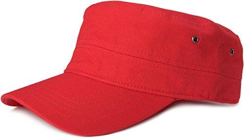 styleBREAKER Cap im Military-Stil aus robustem Baumwollcanvas (Rot)