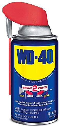 WD-40 Multi-Use Product with SMART STRAW SPRAYS 2 WAYS, 8 OZ (490026), Blue