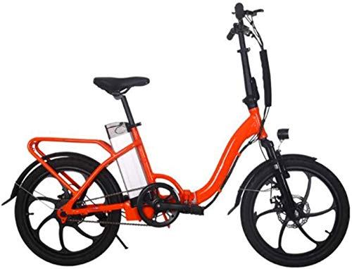 WJSWD Bicicleta eléctrica de nieve, bicicleta eléctrica plegable de 20 pulgadas, 36 V, 10 A, 250 W, bicicleta de ciudad para adultos, ciclismo al aire libre, batería de litio para adultos