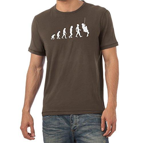 Texlab Climbing Evolution - Herren T-Shirt, Größe M, Braun