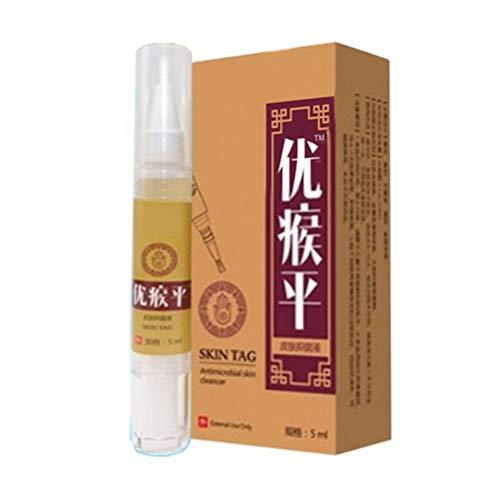 Auplew Warzen Entfernen 5ml Muttermal Entfernen Haut-Entferner, Warzen Behandlung Warze Remover Flüssigkeit
