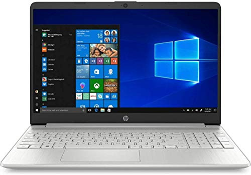 HP 15S-FQ1002NA Silver Notebook 15.6' Intel Core i5 1035G1, 16GB DDR4, 256GB Solid State Drive Wireless 11ac & Bluetooth 4.2, HD Webcam, Windows 10 Pro - UK Keyboard Layout - Non HP Plain Box