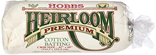 Hobbs HL45 Batting Heirloom Premium Cotton Blend, 45' x 60'