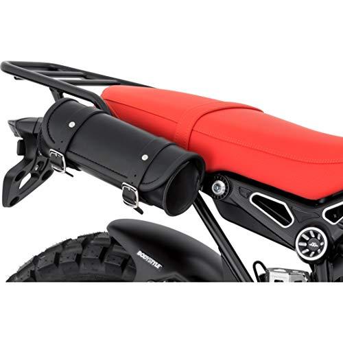 Stoverinck Hecktasche Motorrad Motorradtasche Lederwerkzeugrolle Nebraska 2 Liter Stauraum, Unisex, Chopper/Cruiser, Ganzjährig, schwarz