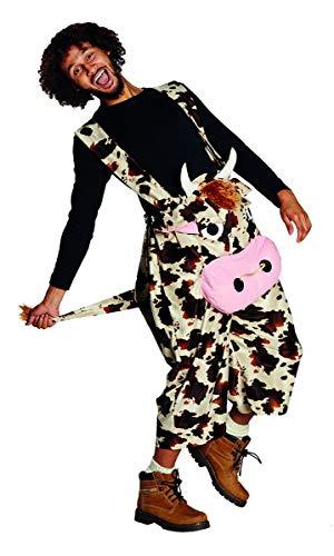 Susis Fashion Shop 14906-XL Karneval Fasching Kuh Latzhose Gr. XL, Multi-Colored