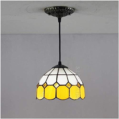 DIMPLEYA 8-Zoll-handgefertigte Tiffany-kronleuchterlampe Im Tiffany-Stil Mit Farbigem Glasdesign Für Wohnkultur Gelb