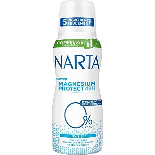 Narta - Femme Déodorant Atomiseur Compressé Magnesium Protect Invisible 100Ml - Lot De 3 - Livraison Gratuite