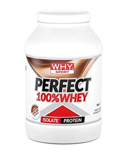 Why Sport Perfect 100% Whey Isolate Protein Gusto Cacao 30 Porzioni 900 Grams