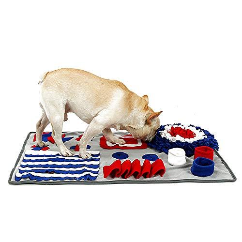 IEUUMLER Snuffle Mat para Perros Alfombrilla de Entrenamiento Estera de Entrenamiento Manta para la Nariz Juguete de Juego IE081 (S (50x75cm), Grey) ⭐