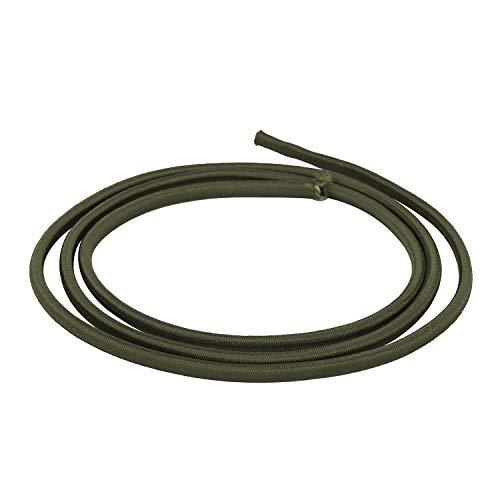 Trimming Shop Gummiseil, 4 mm breit, elastisch, rund, zum Nähen, für Kajaks, Bastelprojekte, Rucksäcke, Zeltstangen, 5 Metres, olivgrün