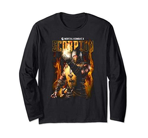 Mortal Kombat X Scorpion Longsleeve T Shirt Long Sleeve T-Shirt