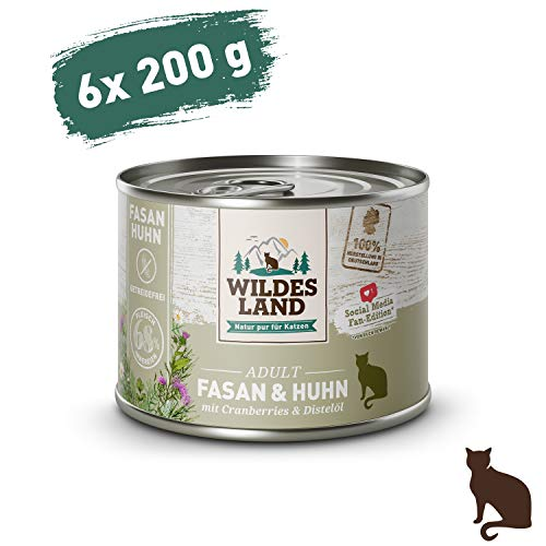 Wildes Land Classic Adult Fasan und Huhn Nassfutter 6 x 200 g