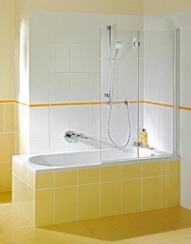 Breuer Elana Komfort Badewannenfaltwand 2-teilig schwenkbar Anschlag Rechts Quickline