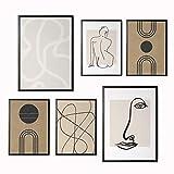 Láminas Decorativas para salón, Comedor, habitación, Dormitorio, Pasillo. Set de 6 Posters...