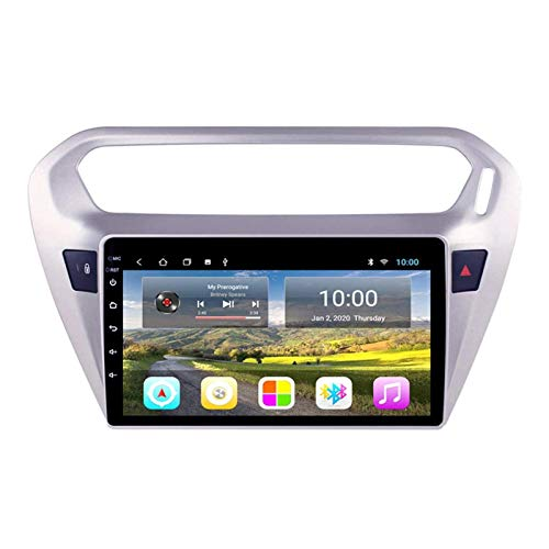 ZHANGYY Unidad Principal estéreo de navegación para automóvil de 9 Pulgadas Compatible con Peugeot 301 Citroen Elysee 2014-2018, navegación GPS Android 8.1, Bluetooth/Radio/FM/RDS/cámara tra
