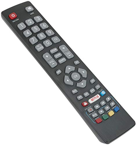 BLFRMC0008 Telecomando di ricambio - VINABTY BLF RMC 0008 Telecomando per Blaupunkt HD LED TV 43134M 48148O 55138M 32148M 55 138MGB11B4FEGPXUK 43-134M-GB-11B-FEGUX-UK with Netflix & YouTube Buttons