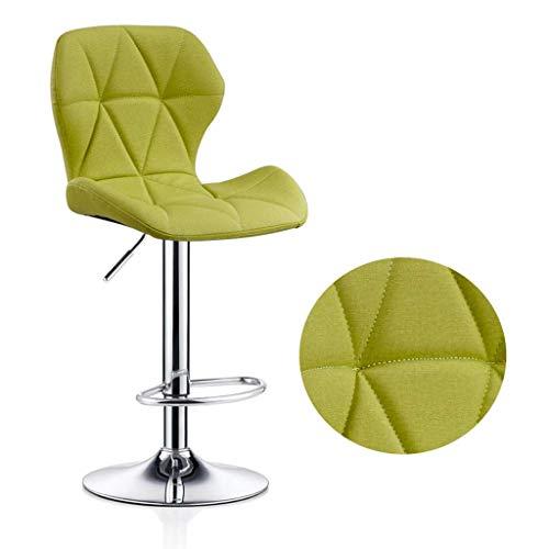 LINGZHIGAN Fauteuil de bar chaise minimaliste moderne maison pivotante chaise de bar tabouret haut arrière tabouret (Couleur : D)