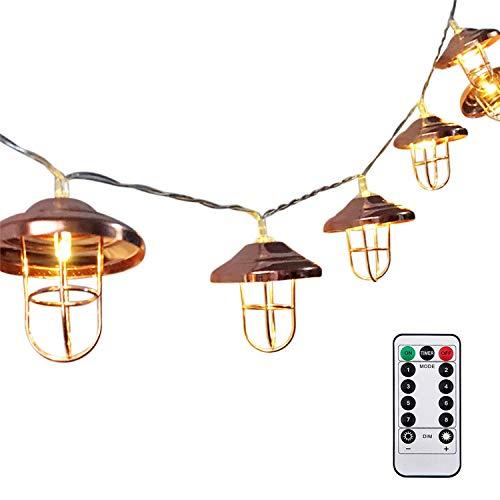 (セーディコ)Cerdeco イルミネーションライト 北欧風 アンティーク調 ランプシェード形 上質 LED20球 スト...