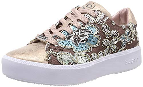 bugatti Damen 431407055969 Sneaker, Mehrfarbig (Rose/Multicolour 3481), 39 EU