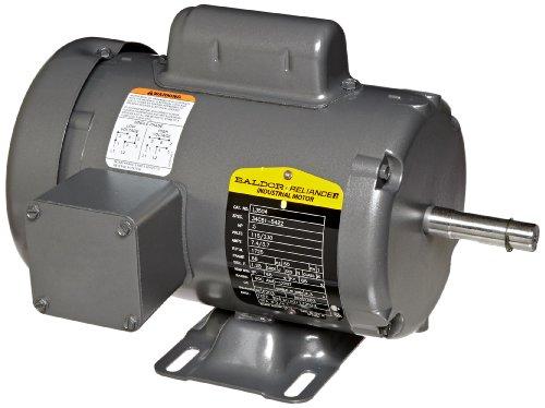 Baldor L3504 General Purpose AC Motor, Single Phase, 56 Frame, TEFC Enclosure, 1/2Hp Output, 1725rpm, 60Hz, 115/230V Voltage