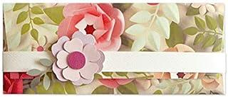 Porta soldi - fiori di carta - cerimonie - busta portasoldi (formato 22 x 9,5 cm) + biglietto d'auguri vuoto all'interno -...